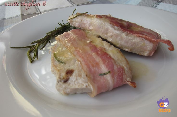 Teneri e gustosi i bocconcini di maiale avvolti nella pancetta