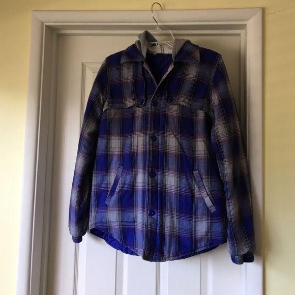 Roxy Jackets & Coats - ROXY purple/grey flannel jacket