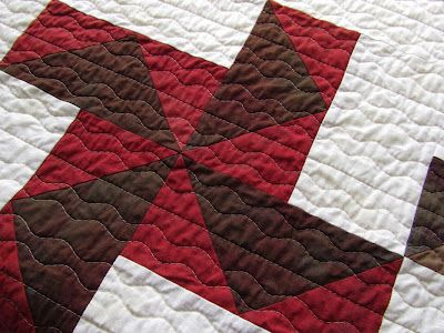 """Rusty Windmills by Victoria Gertenbach.  Love the """"wind"""" quilting.: Straight Line"""
