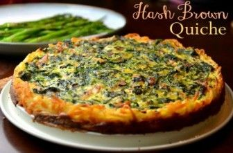 Easy Hash Brown Quiche Recipe    Make it the night before cover and refrigerate.  Bake for breakfast.