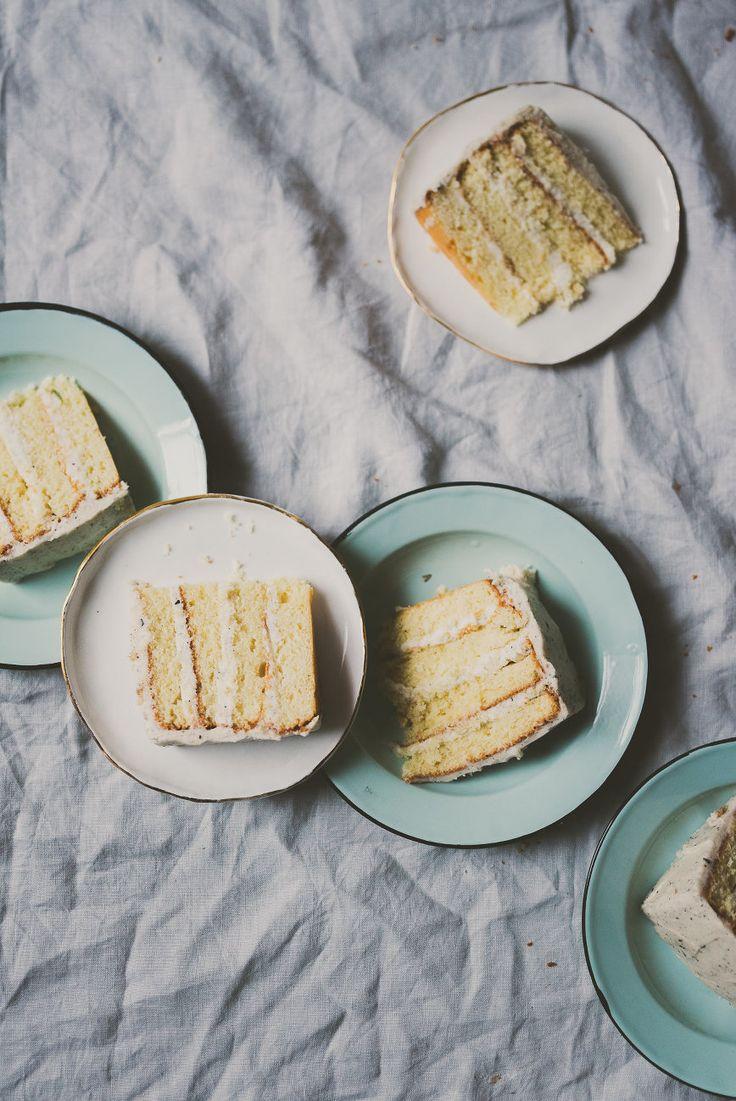 grapefruit cake with earl grey buttercream frosting | bettysliu.com