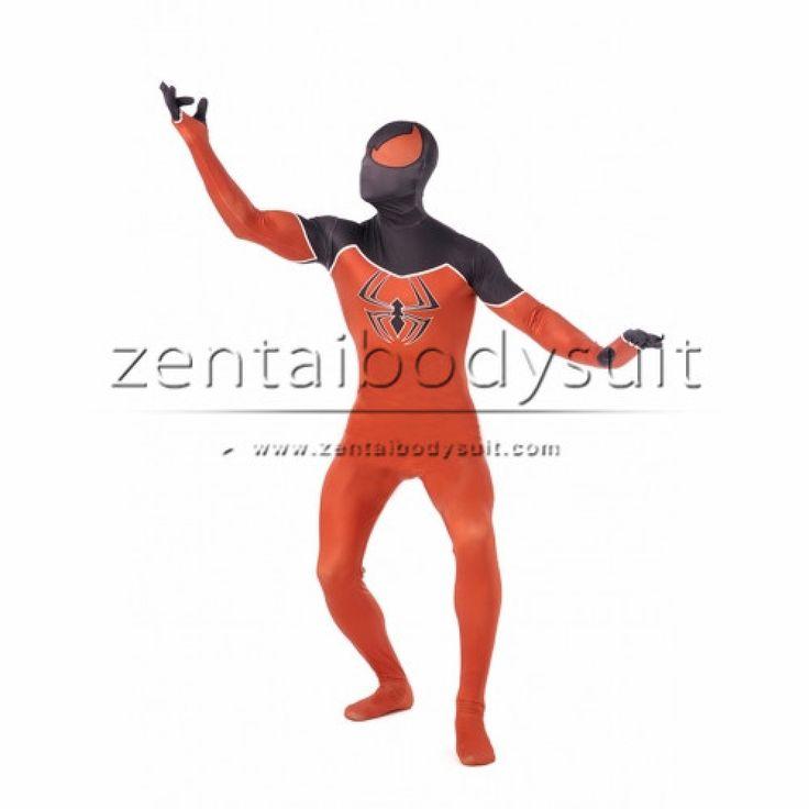 Adult Spiderman Spandex Suit Zentai Black Spider-man Costume