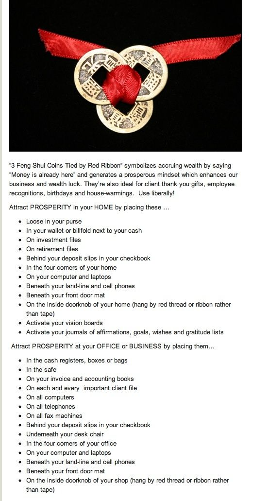 Monedas son ideales para activar la prosperidad de - Feng shui para la prosperidad ...