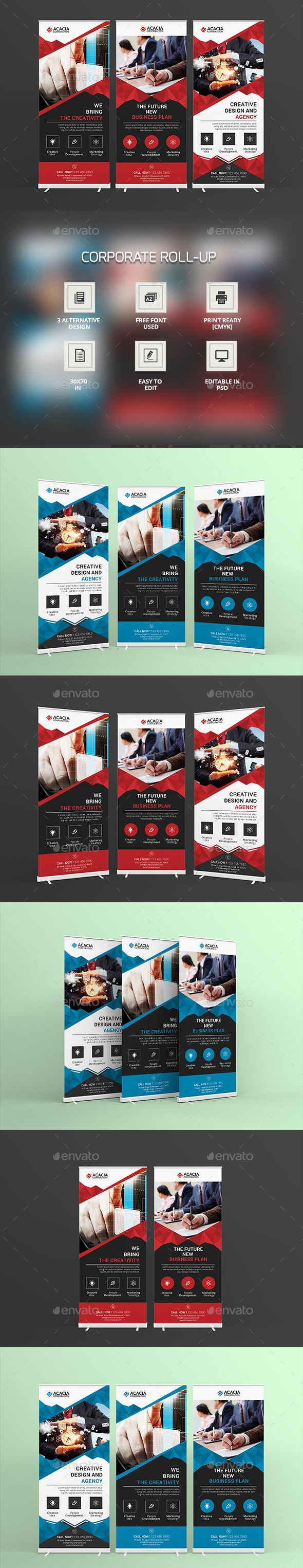 Corporate Roll-Up Banner Template PSD. Download here: http://graphicriver.net/item/corporate-rollup/15190570?ref=ksioks