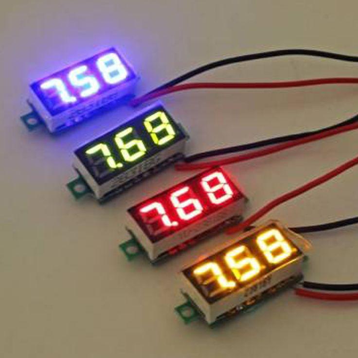 0.36 дюймов 2.5 В 30 В Мини цифровой вольтметр Напряжение метр тестер LED Экран электронных компонентов Аксессуары Цифровой вольтметр купить на AliExpress