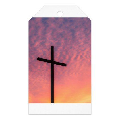 cross and sunset gift tags - christmas craft supplies cyo merry xmas santa claus family holidays