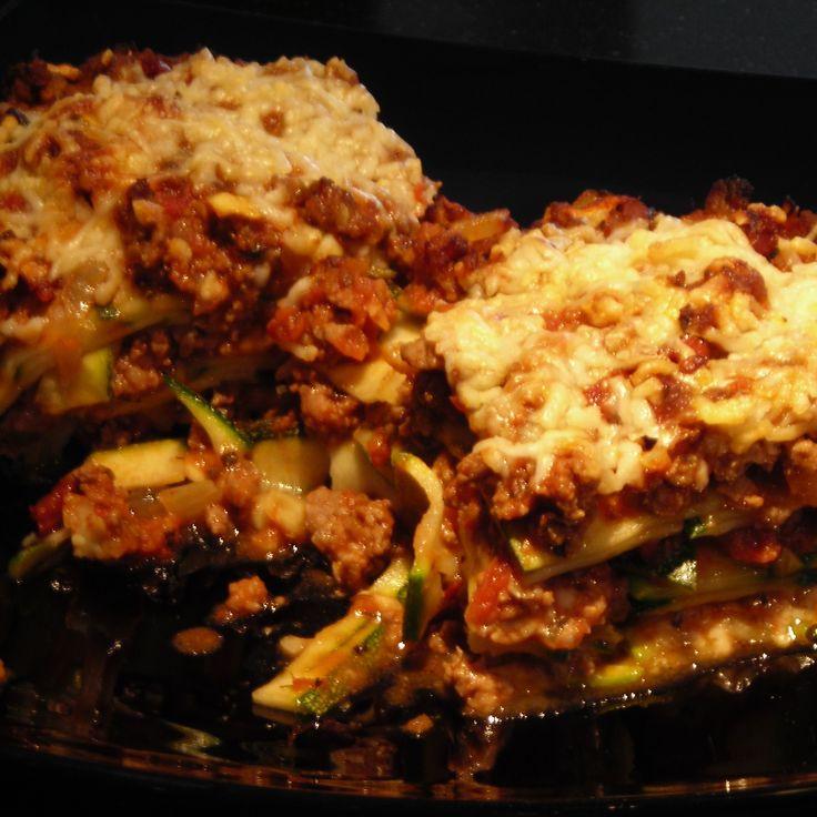 Lasagne van courgette Paleo: vrij van geraffineerde suiker, zuivel (optioneel) en gluten