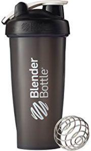 Gold Standard Whey Protein - BlenderBottle Classic Loop Top Shaker Bottle, Black/Black, 28-Ounce Loop Top