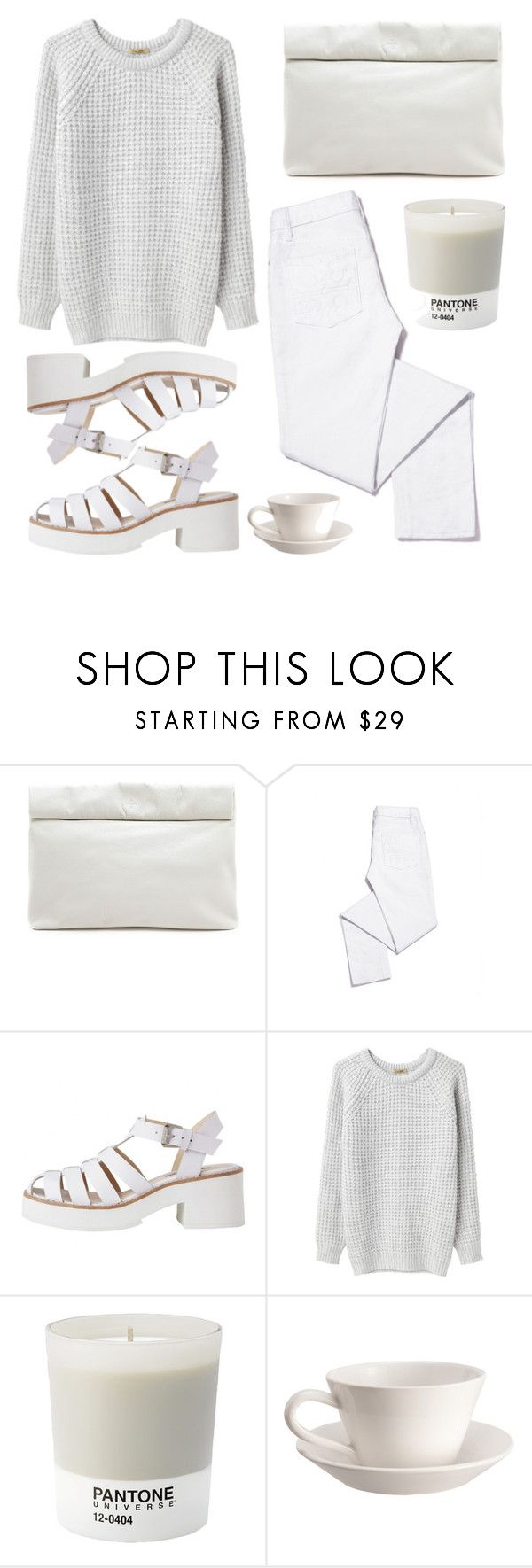 """""""minimal white"""" by symple ❤ liked on Polyvore featuring Marie Turnor, Tory Burch, Lily White, Peter Jensen, Pantone and Bourg-Joly Malicorne"""