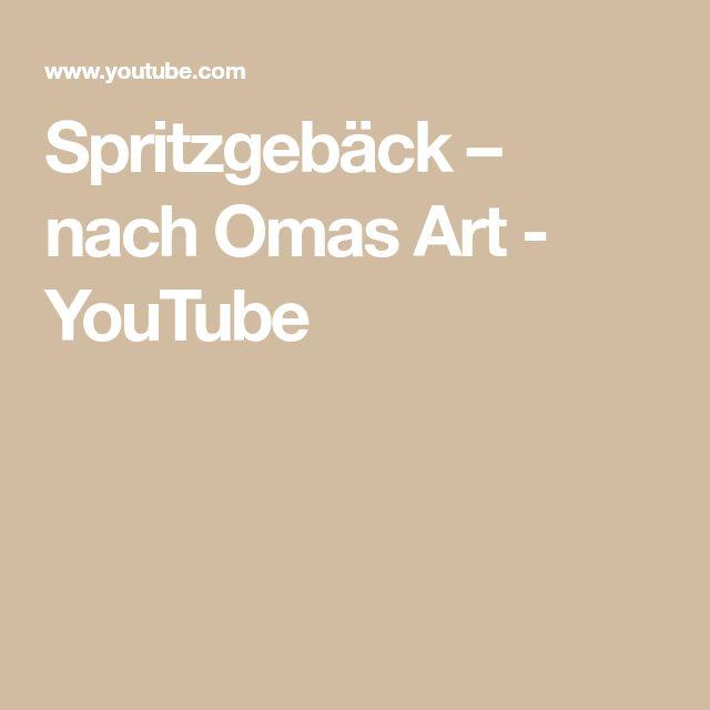 Spritzgebäck – nach Omas Art – YouTube
