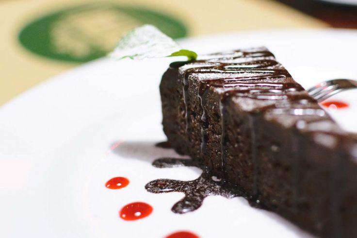 Chocolate dessert in a restaurant - FoodiesFeed