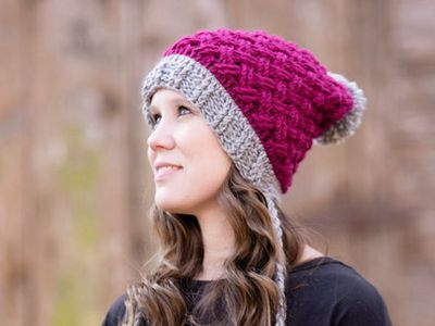 Gorgeous Slouch Hat for Winter - Love the colour!