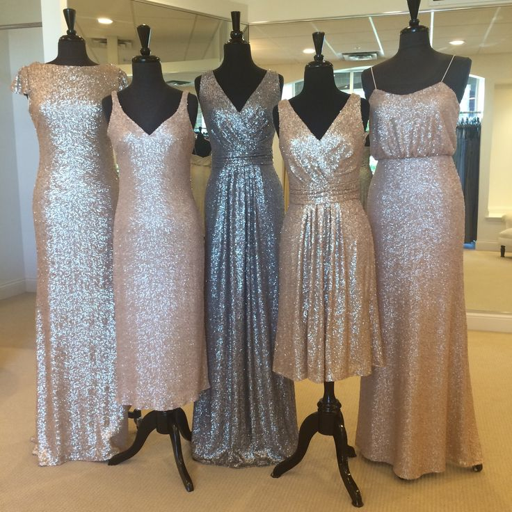 Sorella Vita matte sequin bridesmaids dresses! Wonderful color options for different skin tones as well as unique styles for every body type!