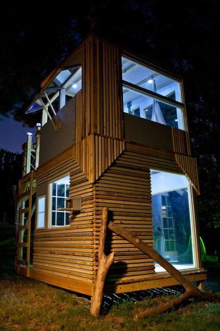 Backyard Treehouse Designs : Two Floor Kids Tree House Design, Inspiring DIY Backyard Ideas