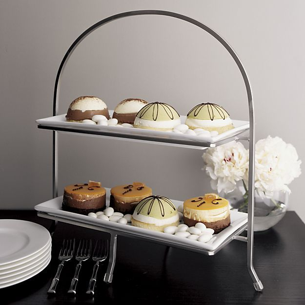 Cambridge 2-Tier Server with Plates in Specialty Serveware | Crate and Barrel