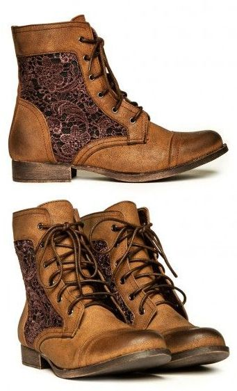 cute boots! The lace insert panel really makes these unique and feminine! Hello, Fall!! I have some that are really similar to these