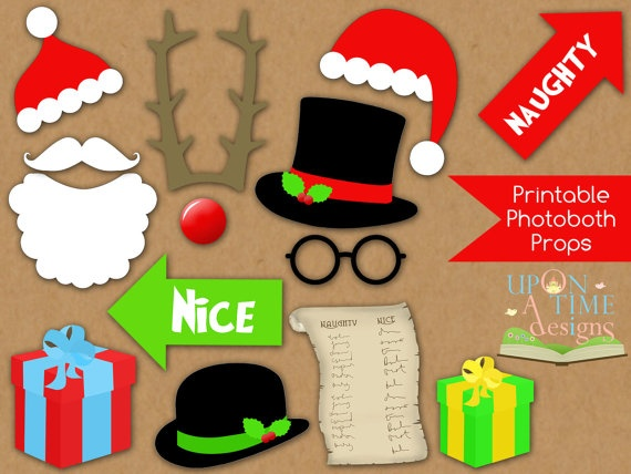 CHRISTMAS Photobooth Props printable  INSTANT by UponATimeDesigns. , via Etsy.