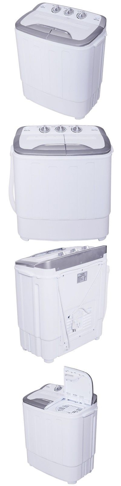 Washing Machines 71256: Portable Compact Mini Twin Tub Washing Machine Washer Spin Dryer Grayandwhite 8Lbs -> BUY IT NOW ONLY: $114.99 on eBay!