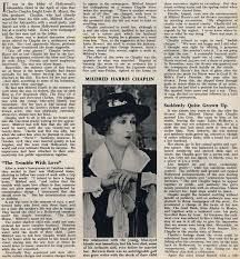 I couldnt live with a genius cries 1st wife of charie Chaplin Mildred Harris