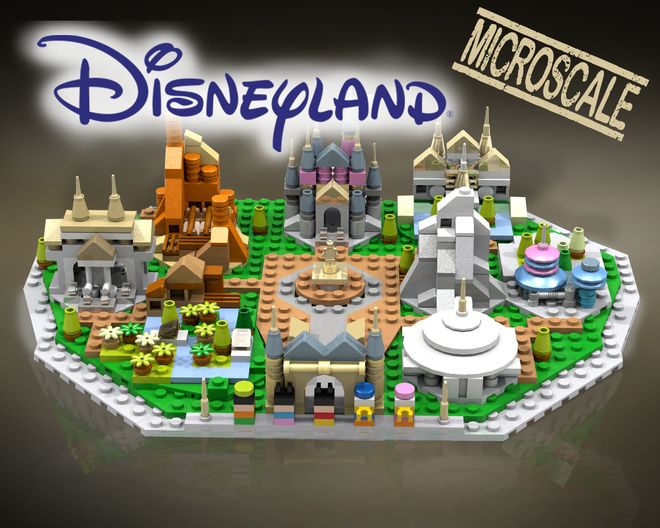 Hi Disney fans, I really happy to present you an awsome project namedDisneyland Microscale! This project is composed of two big plateforms (which are the Disneyland plateform...
