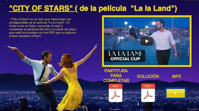 "El Lenguaje Musical de Fátima: ""CITY OF STARS"" de la película ""La La Land"""