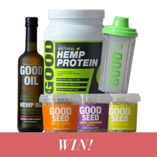 Win a bundle of GOOD hemp nutrition products!