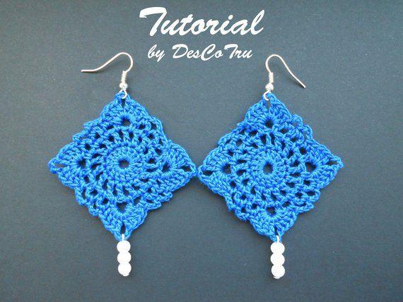 Crochet Earrings Tutorial Do you know how to crochet? Would you like to make you…