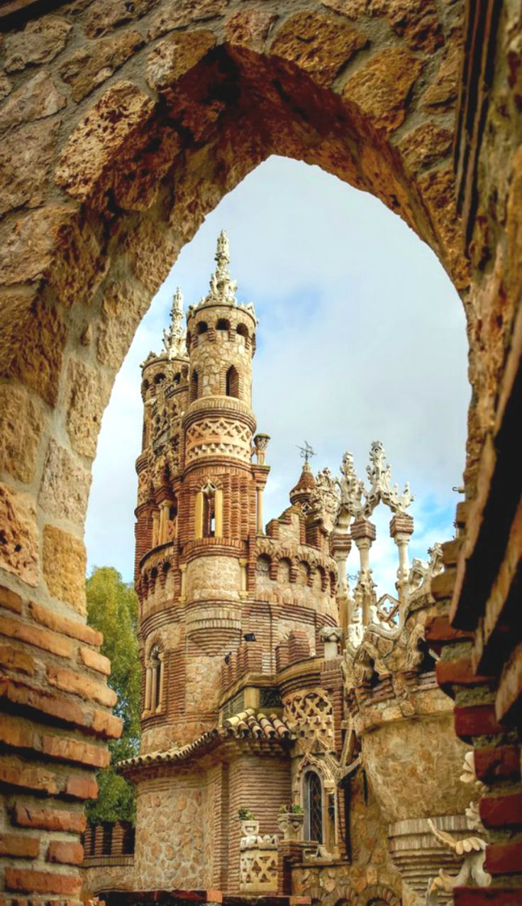 """Colomares Castle ~ Click through the large version for a full-screen view (on a black background in Firefox), set your computer for full-screen. ~ A monument dedicated to Christopher Columbus and his arrival to the New World. ~ Benalmadena, Andalusia, Spain ~ Miks' Pics """"Castles"""" board @ http://www.pinterest.com/msmgish/castles/"""