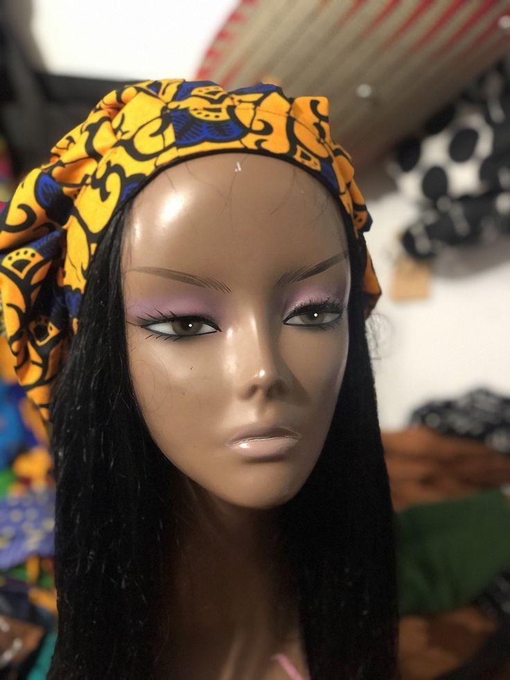 Self Nœud Serre-tête-Réversible Batik en Coton Imprimé Serre-tête//Head tie