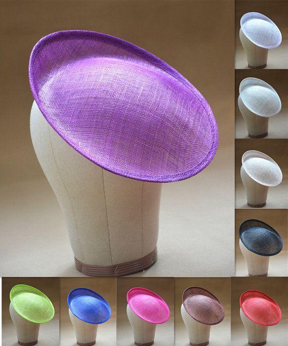 SINAMAY HAT Round Fascinator Hat Base Sewing DIY Crafting Millinery USE