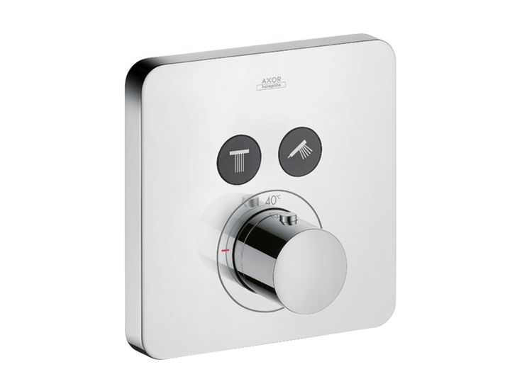 Thermostatic shower mixer with plate AXOR CITTERIO E | Thermostatic shower mixer - HANSGROHE