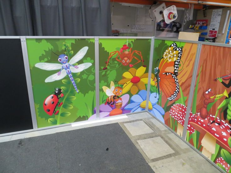 Displays 2 Go - Portable childcare booth - bright images for the inside to stimulate little minds.