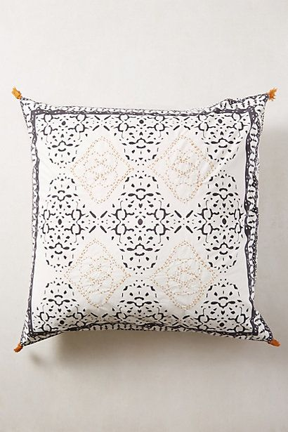 Enmore Embroidered Euro Sham #anthropologie