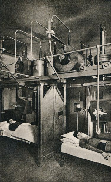 Female patients receiving Radium Therapy, early 20th century