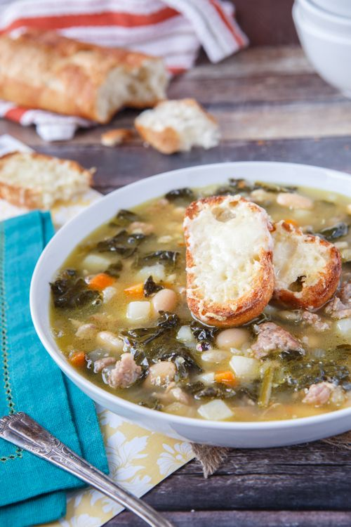 Rustic Tuscan-Style Sausage, White Bean, and Kale Soup - by @Chris @ Shared Appetite