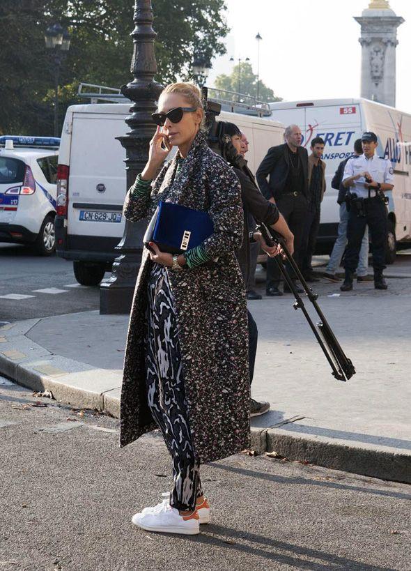 Paris street style: combining patterns
