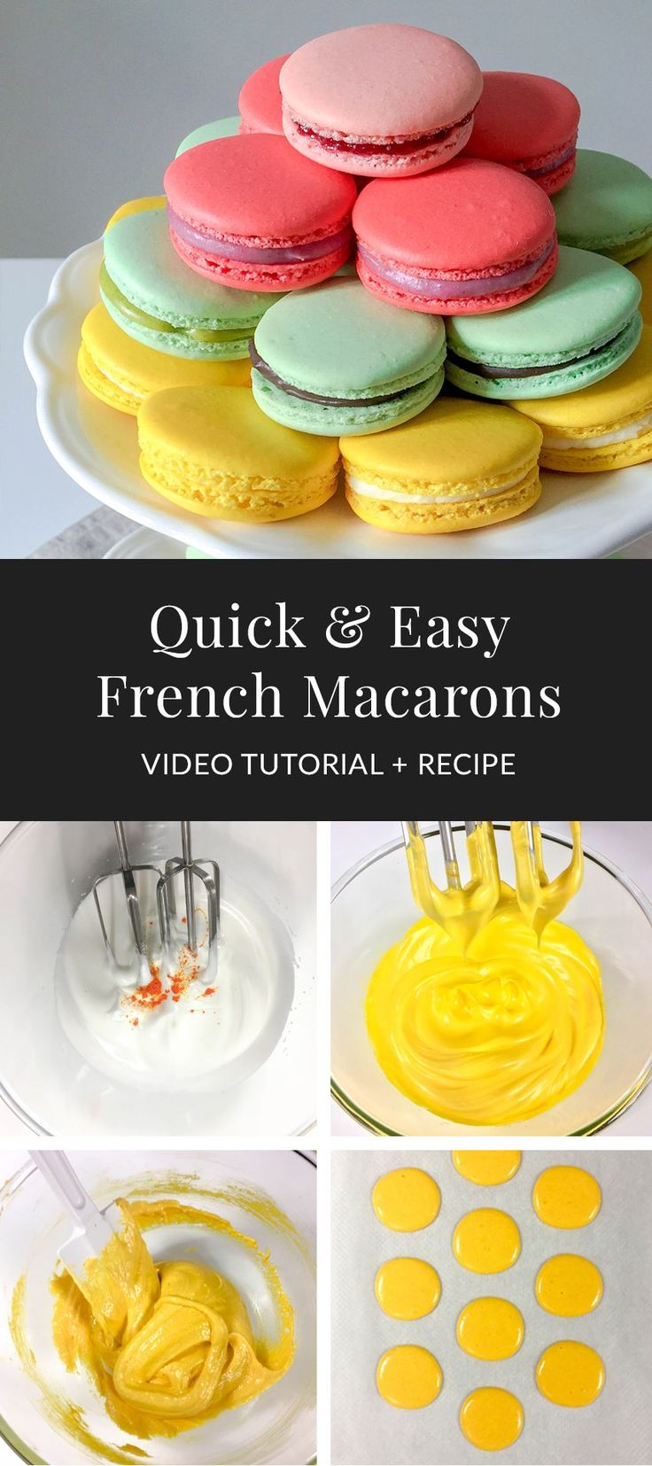 Learn how to make french macarons with the step-by-step video lesson & recipe