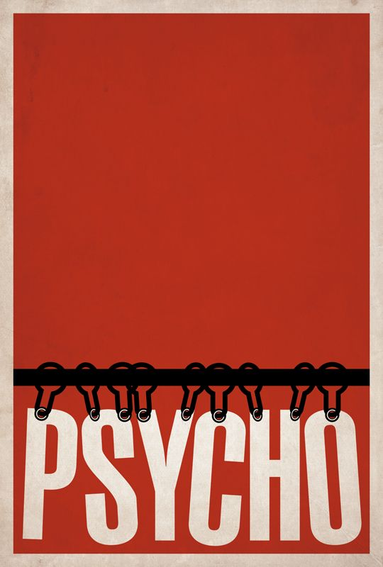 Psycho minimalist movie poster art from designer BrickHut.  Never been a big fan of this one but I love the poster!