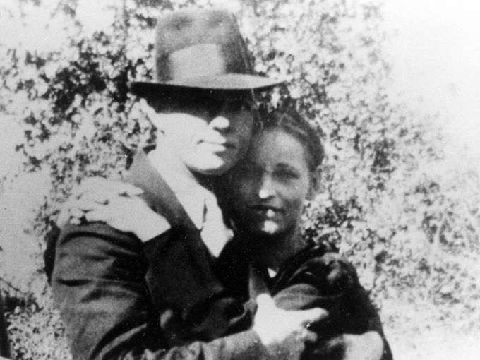 Clyde Barrow and Bonnie Parker were ambushed and killed near Gibsland, La. on May 23, 1934.