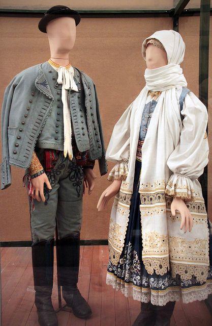 Slovak couple, Krakovány, Nyitra county, 1850-90