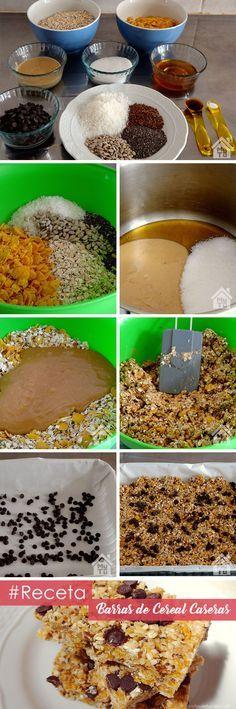 Barras de cereal caseras - Sin horno, rápidas, deliciosas y naturales | MyHouseTuCasa.com