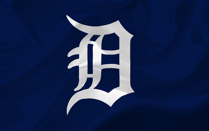 Télécharger fonds d'écran Des Detroit Tigers, MLB, de Baseball, de l'emblème, le logo, les etats-unis, de la Ligue Majeure de Baseball, Detroit