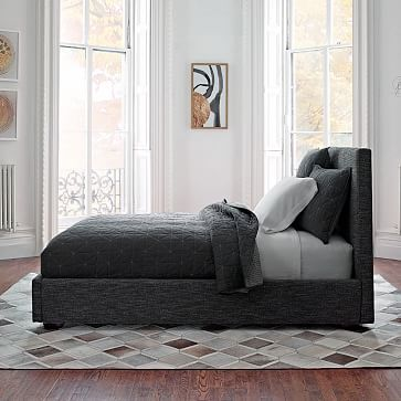 Master Bedroom - Contemporary Bed - Heathered Tweed #westelm