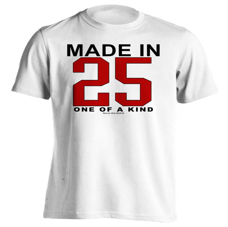 91st Birthday Gift T-Shirt - One of a Kind - Born in 1925 Short Sleeve Mens T-Shirt