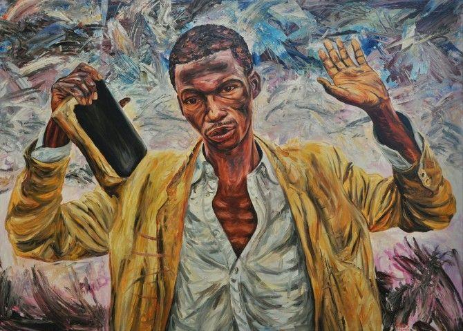 George Gittoes, 'The Preacher II', 1995. Winner of Blake Prize.