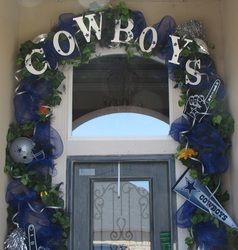 Not a cowboys fan, but I think it would be good to do with your last name. But I'm guessing Paula will like it this way!