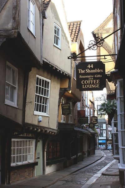 The Shambles inYork, England. Wasn't this quiet when I visited the shambles x
