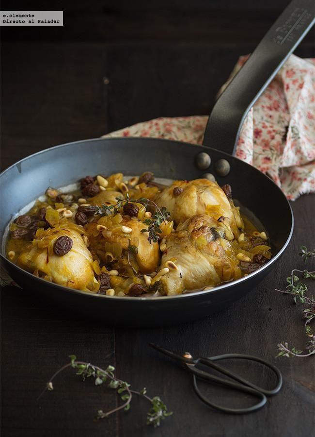 Guiso de pollo con azafr n pasas y pi ones receta stew for Cocinar comida sana