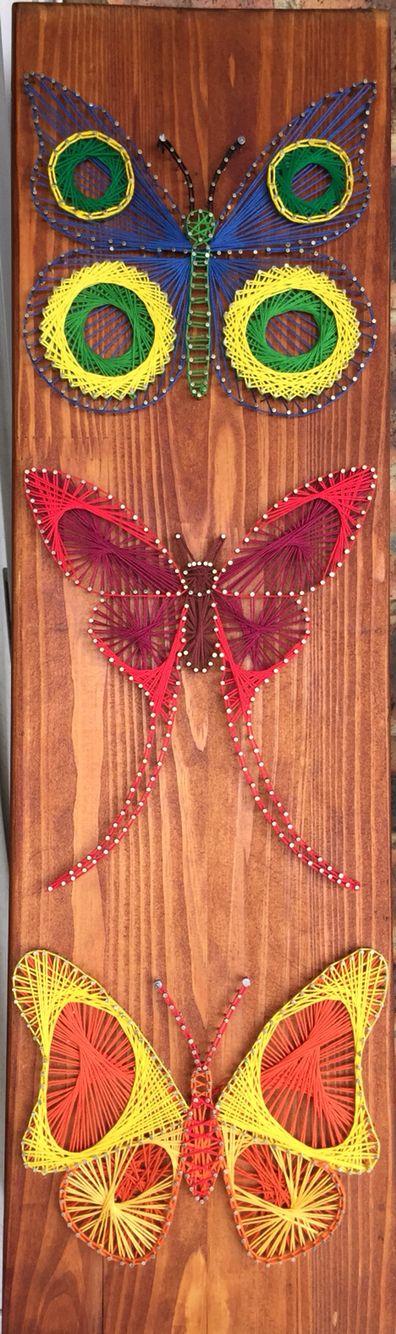 String art butterflies