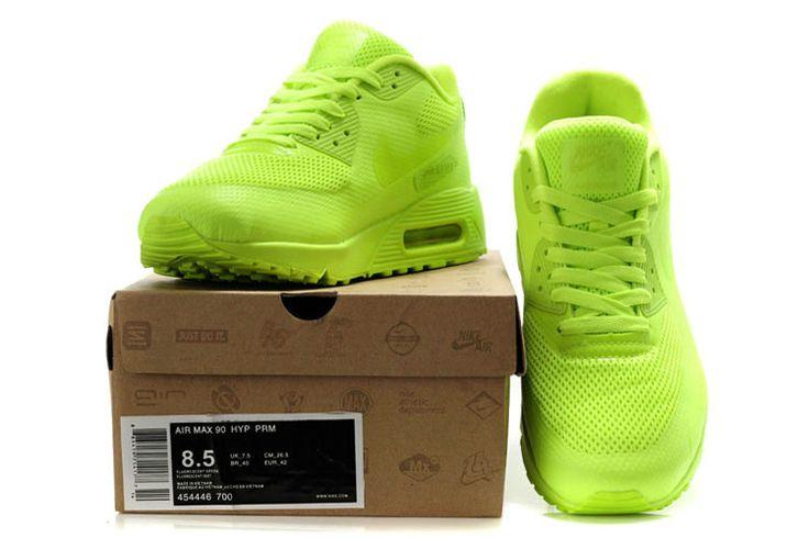 Nike Air Max 90 Hyperfuse Mensen Alle Groen